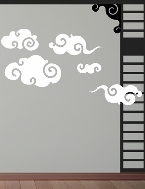 Asian Clouds wall decals stickers