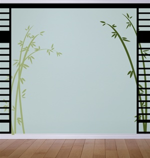 Bamboo Tree Branches wall decals stickers