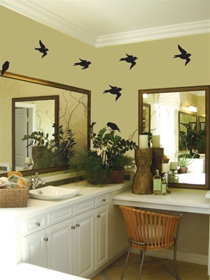 Birds wall decal stickers