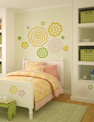Bubble Flowers wall decals stickers