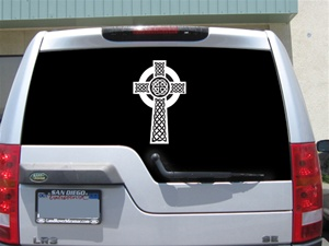 Celtic Cross decal sticker