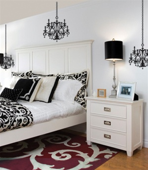 Chandelier wall decal sticker