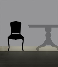 Chair wall decal sticker