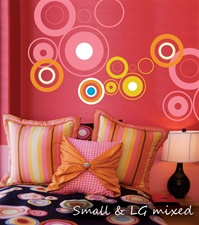 Circles wall decals stickers