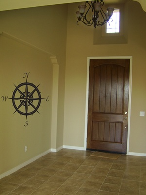 Compass wall decal sticker