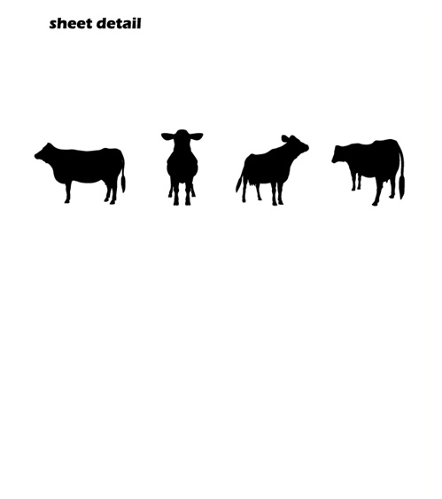 Cow Border Wall Decals Stickers