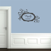 Curly Scallop Message Frame Wall Decals Stickers