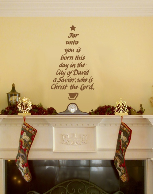 Christmas Tree Quot Calligraphy Quot Wall Decal Sticker