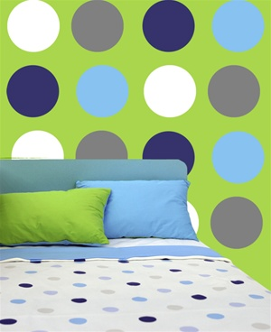 Dots wall decals stickers
