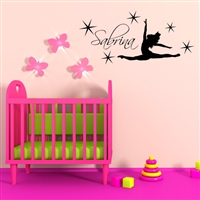 Custom Personalized Name and Dance Wall Decal Sticker - DanceCust001