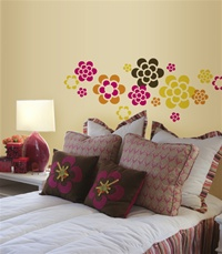 Flowers wall decals stickers