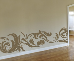 Goth Bottom Border wall decal sticker