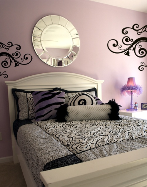 Goth Swirl Scroll Wall Decals Stickers