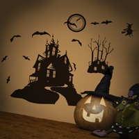 Haunted House-wall decals stickers