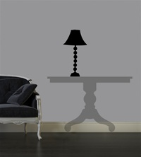 Contemporary Lamp wall decal sticker
