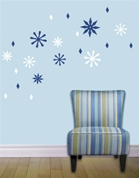 Modern Snowflake wall decals stickers