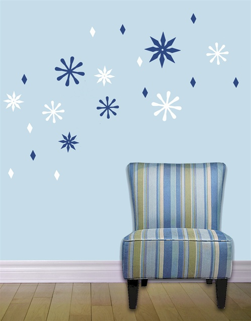 snowflake wall decals stickers. Black Bedroom Furniture Sets. Home Design Ideas