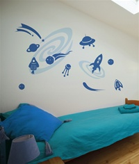 Out of This World wall decals stickers