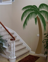 Queen 7 foot tall Palm Tree wall decal