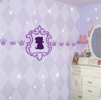 Princess Fancy Frame wall decal sticker