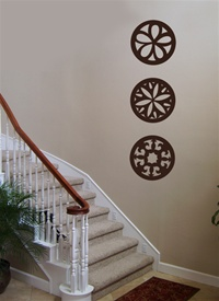 Round ornamental wall decals stickers
