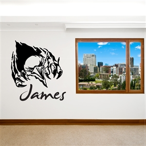 Custom Personalized Name and Ripped Wall Decal Sticker - RipperCust01