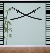 Samurai Swords wall decals stickers