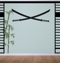 Samurai Bladed Swords wall decals stickers