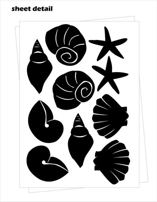 Seashells Wall Decals Stickers
