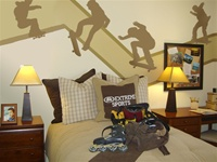 Skate Crooked wall decal sticker set