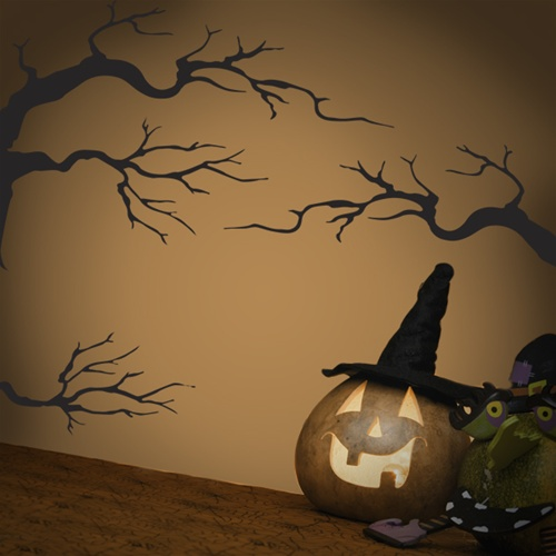 Spooky Tree Wall Decal Set