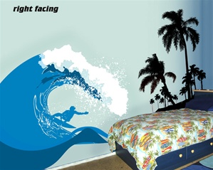 Surf's Up Ocean Wave wall decal sticker
