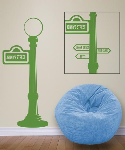 sesame street sign post wall decal sticker. Black Bedroom Furniture Sets. Home Design Ideas