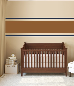 Stripe wall decals stickers