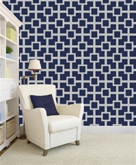 Square Maze Wallpaper Pattern wall decals stickers
