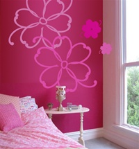 Tropical Flowers wall decals stickers