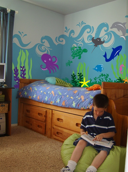 under the sea ocean animal wall decal stickers