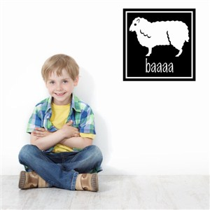 baaaa - Vinyl Wall Decal - Wall Quote - Wall Decor