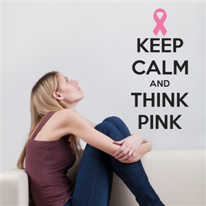 keep calm and think pink - Vinyl Wall Decal - Wall Quote - Wall Decor