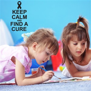 keep calm and find a cure - Vinyl Wall Decal - Wall Quote - Wall Decor