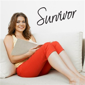 survivor - Vinyl Wall Decal - Wall Quote - Wall Decor