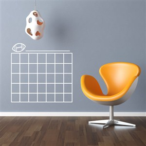 Football Calendar - Vinyl Wall Decal - Wall Quote - Wall Decor