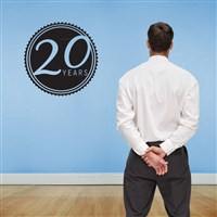 20 Years - Vinyl Wall Decal - Wall Quote - Wall Decor