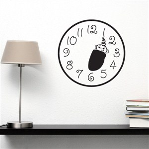 Wall Clock Baby - Vinyl Wall Decal - Wall Quote - Wall Decor