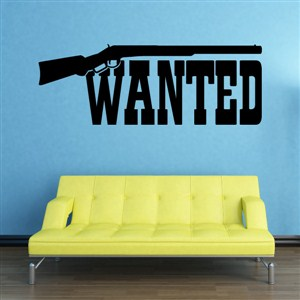 Wanted - Vinyl Wall Decal - Wall Quote - Wall Decor