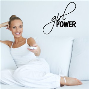 Girl power - Vinyl Wall Decal - Wall Quote - Wall Decor
