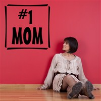#1 Mom - Vinyl Wall Decal - Wall Quote - Wall Decor