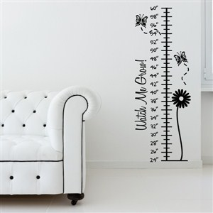 Growth Chart Butterflies - Vinyl Wall Decal - Wall Quote - Wall Decor