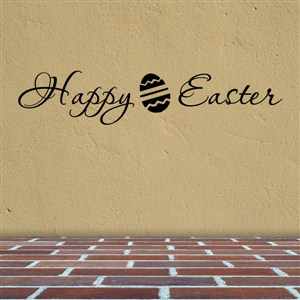 Happy Easter - Vinyl Wall Decal - Wall Quote - Wall Decor