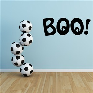 Boo! - Vinyl Wall Decal - Wall Quote - Wall Decor